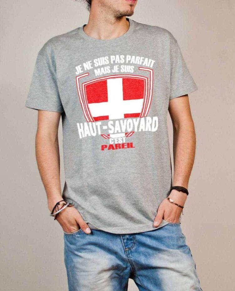 T-shirt Haute-Savoie : Pas parfait mais Haut-Savoyard homme gris
