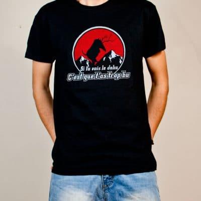 T-shirt Savoie le dahu homme noir